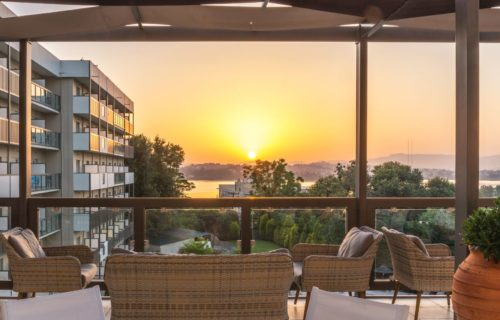 ariti hotel corfu view sunset